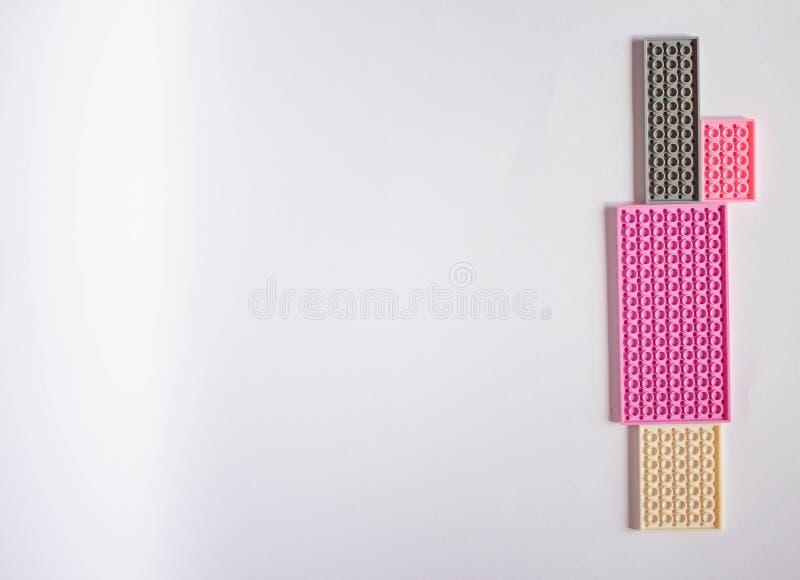Modèle rose en pastel avec l'espace pour le texte illustration de vecteur