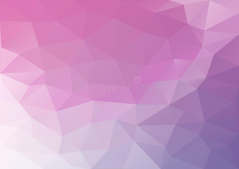 Modèle Rose-pourpre géométrique illustration de vecteur