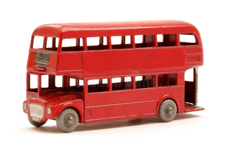 Modèle rouge de bus photographie stock