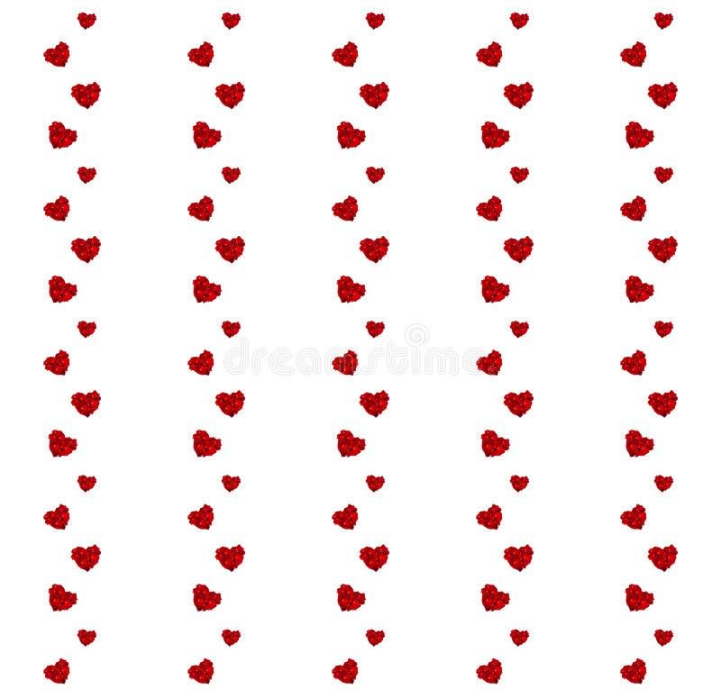 Modèle rouge de coeurs images stock