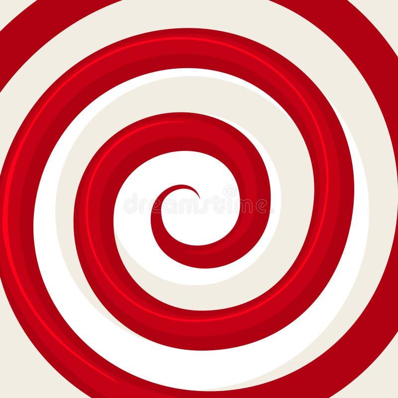 Modèle rouge de spirale d'hypnose Illusion optique illustration de vecteur