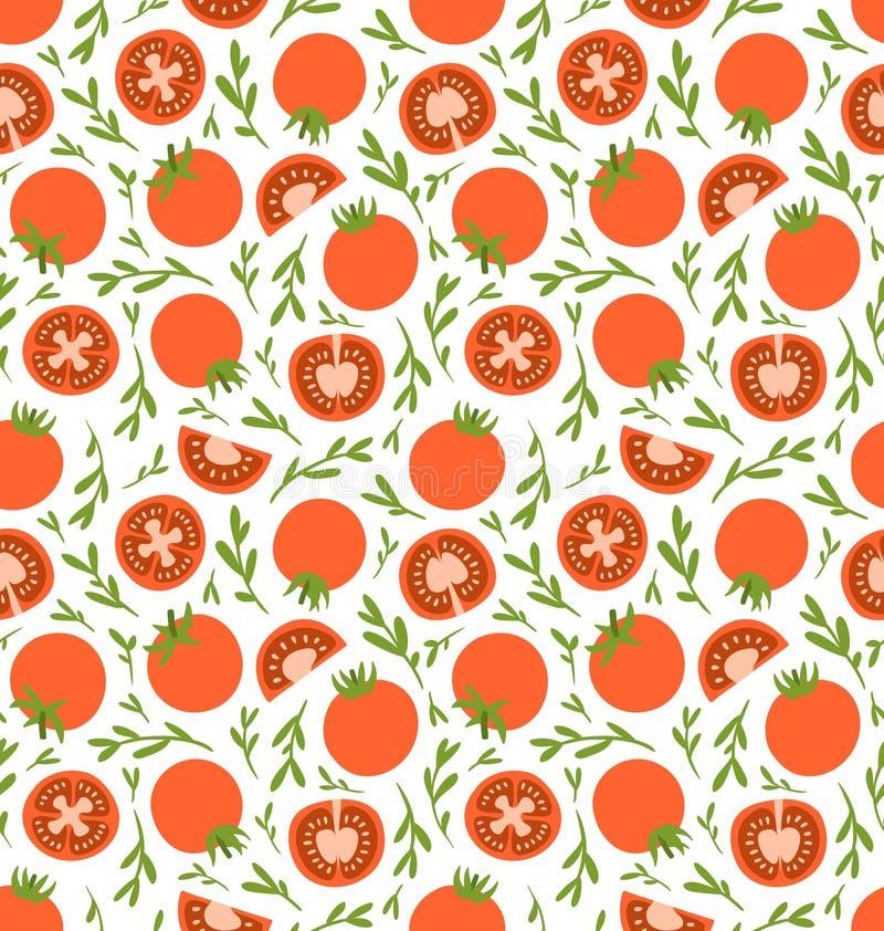 Modèle rouge de tomates illustration de vecteur