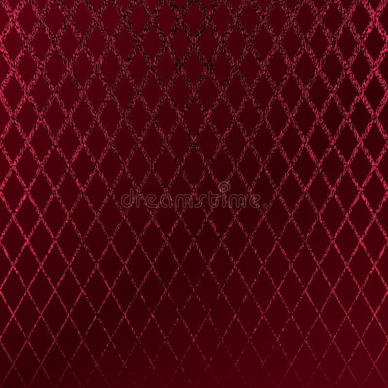 Modèle rouge Fond cramoisi abstrait Illustration marron de vecteur Rayures de scintillement d'écarlate Texture rouge foncé d'alum illustration libre de droits