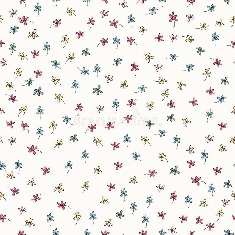 Modèle rustique floral avec des fleurs, conception graphique de vecteur image stock