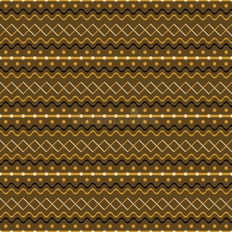 Modèle rustique sans couture mignon de zigzag croisé, vagues, points, bande illustration stock