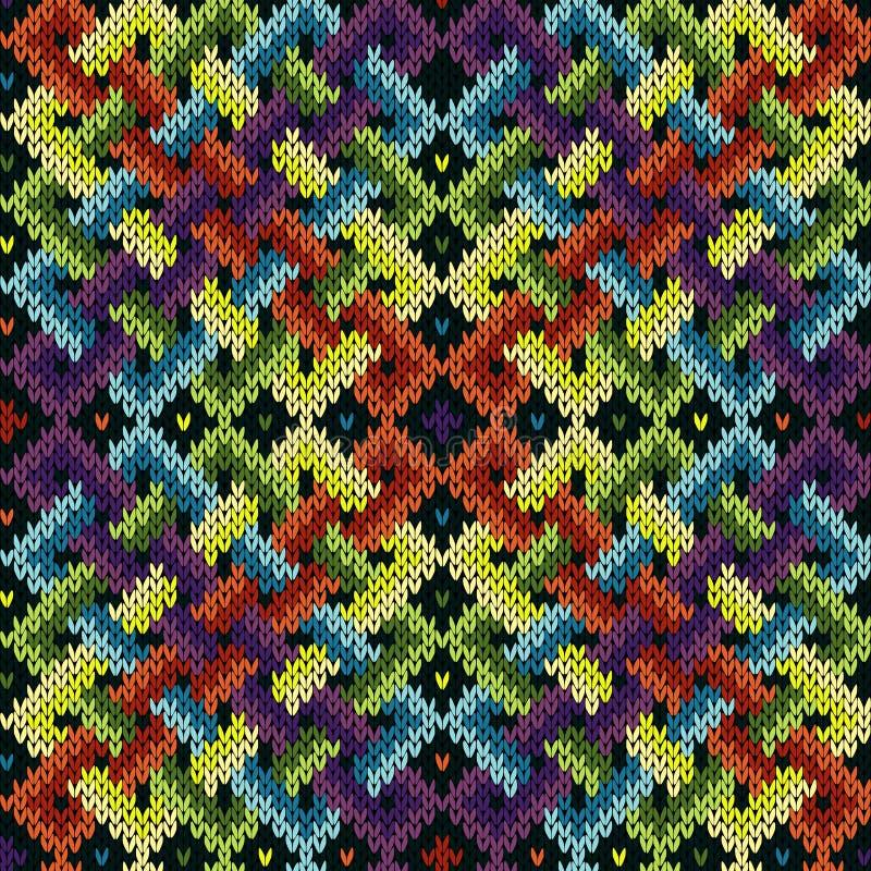 Modèle s'entrelaçant tricoté sans couture illustration stock