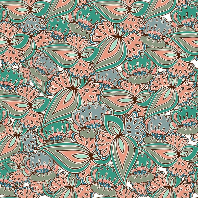 Modèle samless floral illustration stock