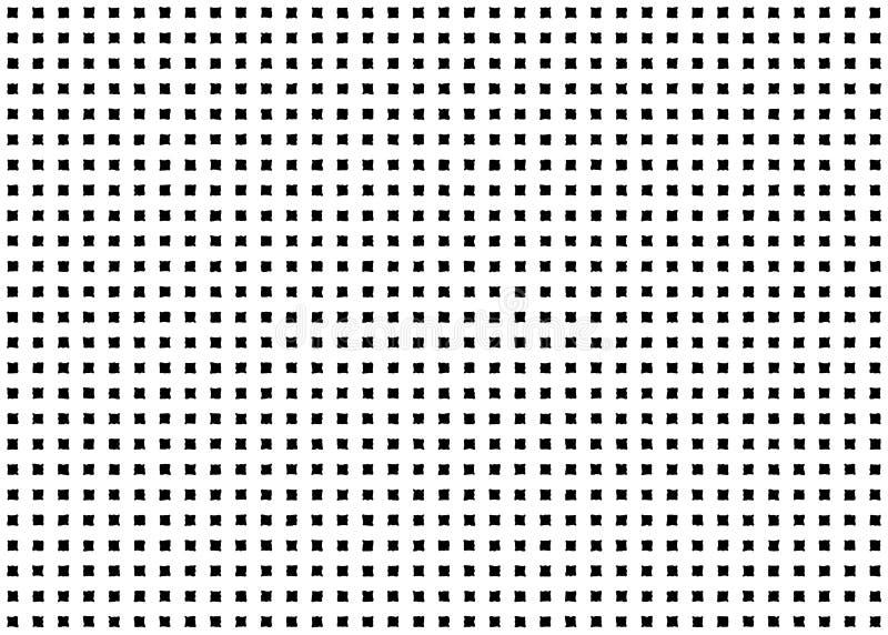 Modèle sans couture à carreaux carré Point géométrique quadratique de grunge de forme illustration libre de droits