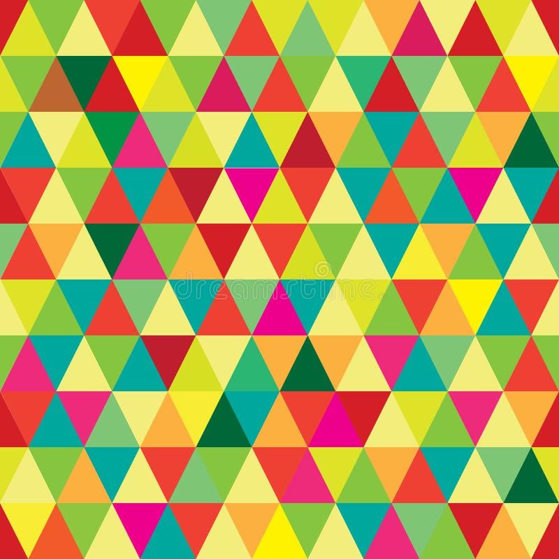 Modèle sans couture à haute résolution avec les triangles colorées géométriques abstraites photos stock
