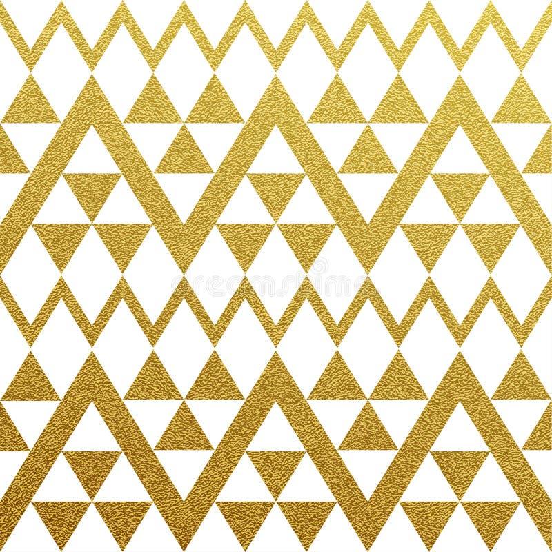 Modèle sans couture éclatant d'or des triangles illustration libre de droits