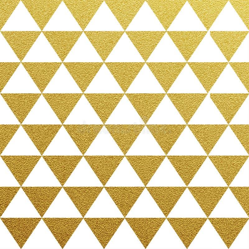Modèle sans couture éclatant d'or des triangles illustration de vecteur