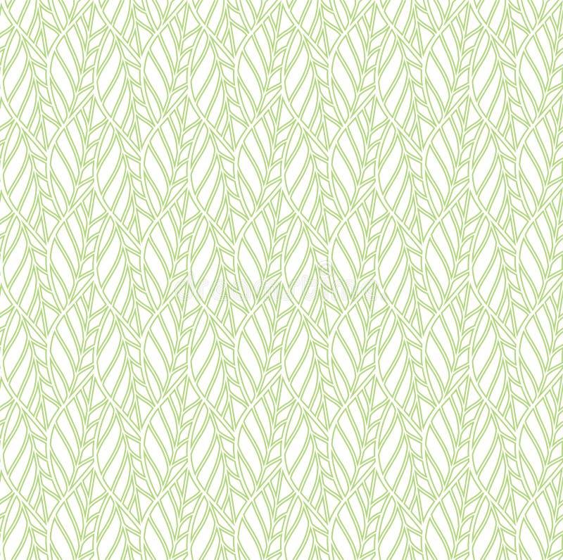 Modèle sans couture élégant floral vert Le vecteur géométrique laisse le fond illustration libre de droits