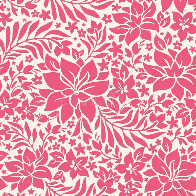 Modèle sans couture abstrait avec des fleurs illustration libre de droits