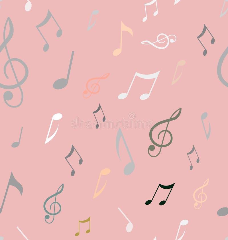 Modèle sans couture abstrait avec des notes de musique Vecteur de fond illustration de vecteur