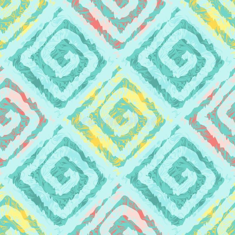 Modèle sans couture abstrait avec des places dans le style ethnique illustration stock