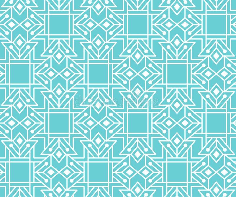 Modèle sans couture abstrait avec l'ornement géométrique décrit illustration libre de droits