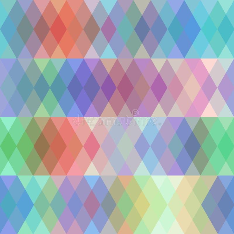 Modèle sans couture abstrait avec le losange coloré, effet de spectre Vecteur illustration de vecteur