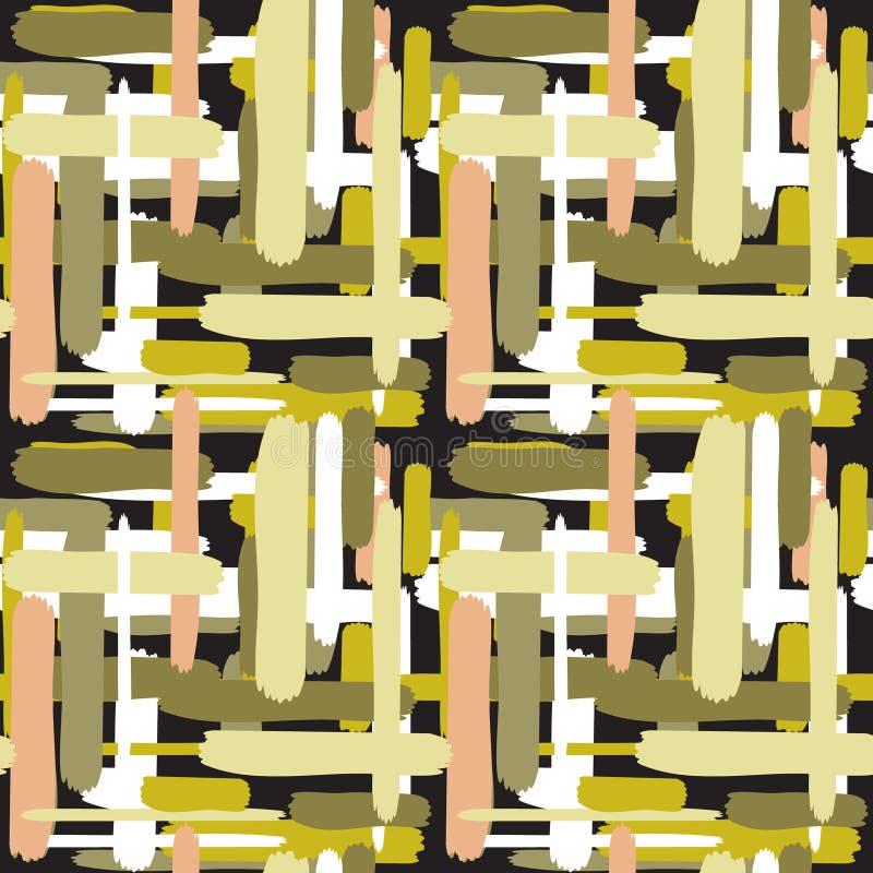 Modèle sans couture abstrait coloré avec des lignes illustration stock