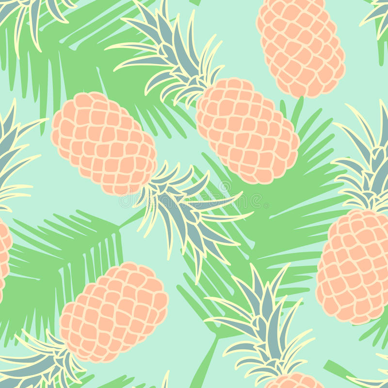 Modèle sans couture abstrait d'ananas illustration stock