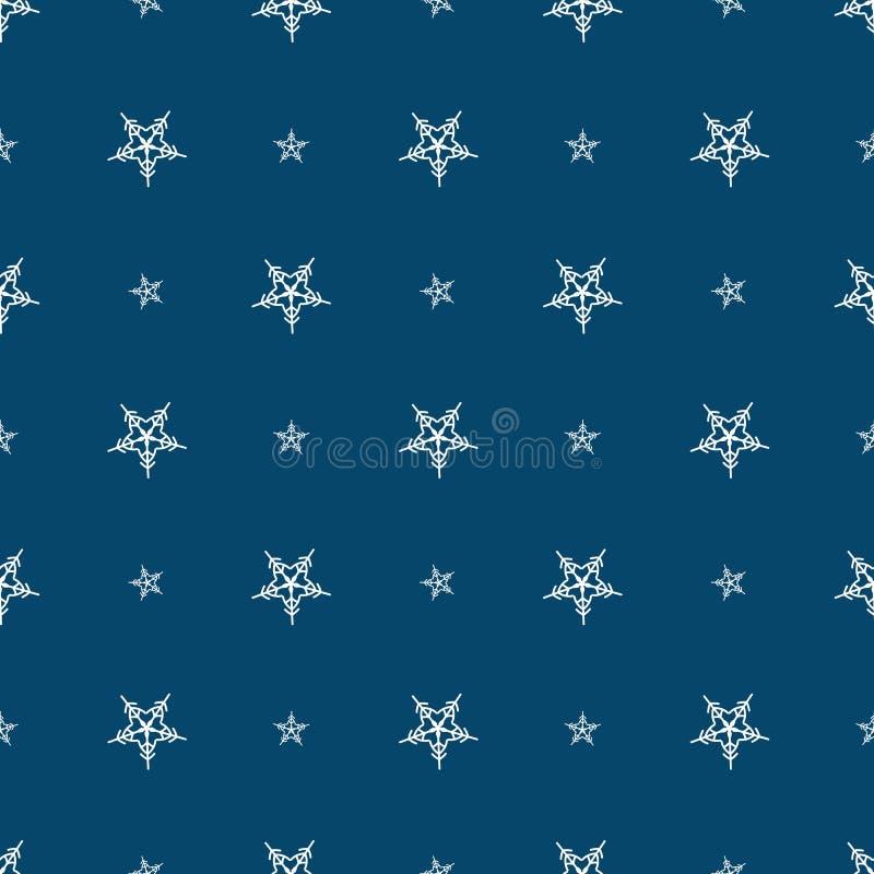 Modèle sans couture abstrait d'hiver avec des flocons de neige illustration libre de droits