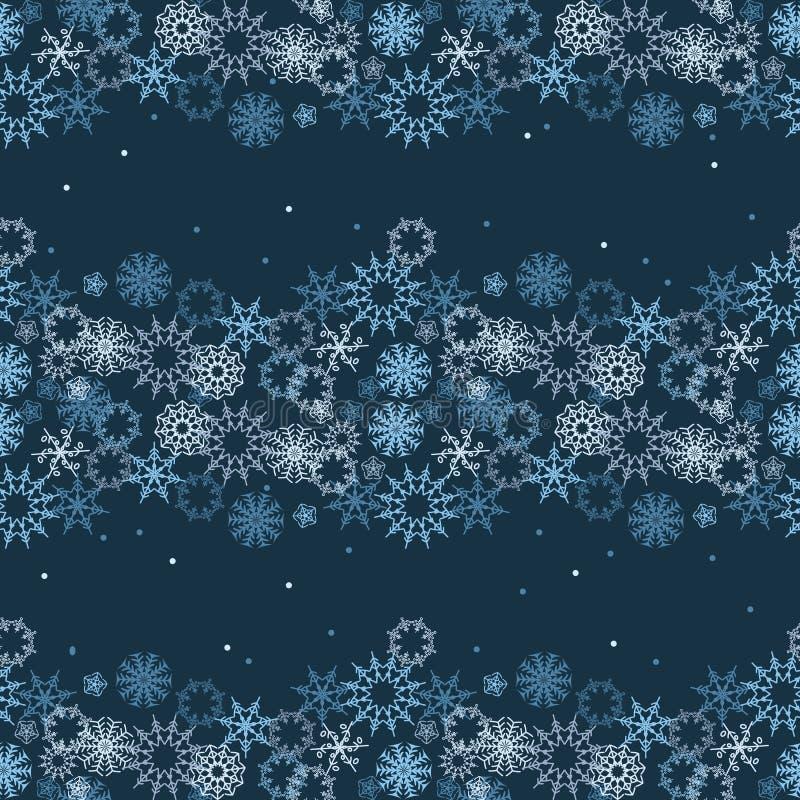Modèle sans couture abstrait d'hiver avec des flocons de neige illustration stock