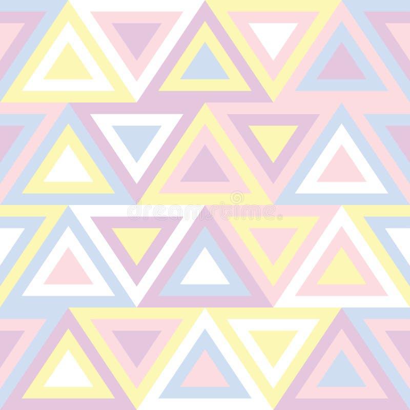 Modèle sans couture abstrait dans des couleurs en pastel Conception basée sur les triangles géométriques colorées dans le style a illustration libre de droits
