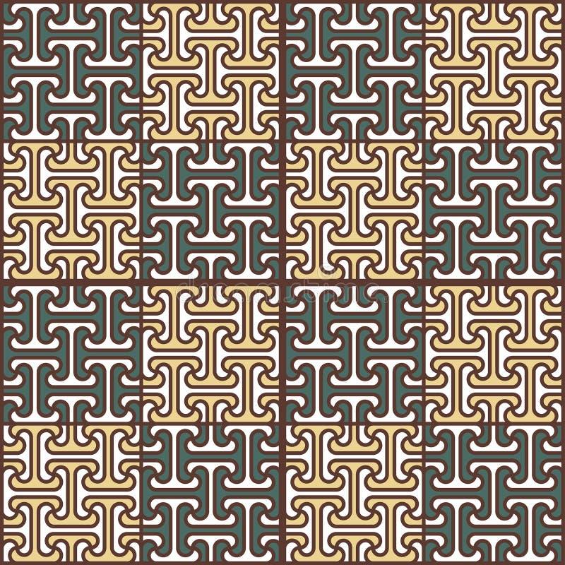 Modèle sans couture abstrait dans le style égyptien images stock