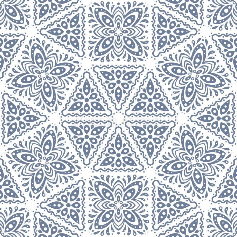 Modèle sans couture abstrait dans le style de vintage Formes et textures de verrouillage illustration de vecteur
