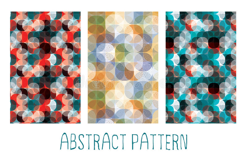 Modèle sans couture abstrait de cercle illustration stock