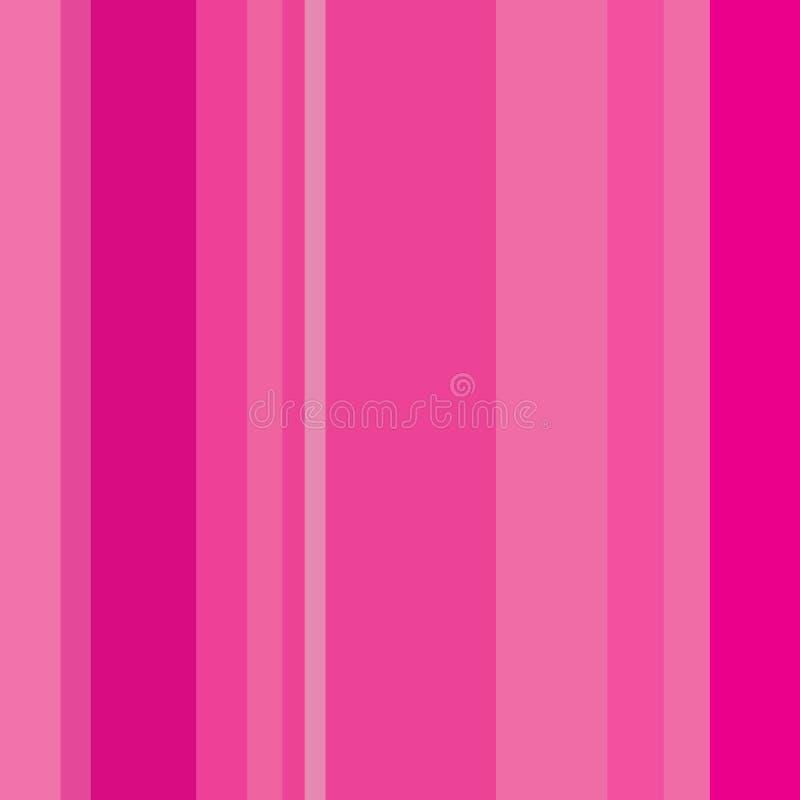 Modèle sans couture abstrait de fond avec les lignes verticales roses illustration stock