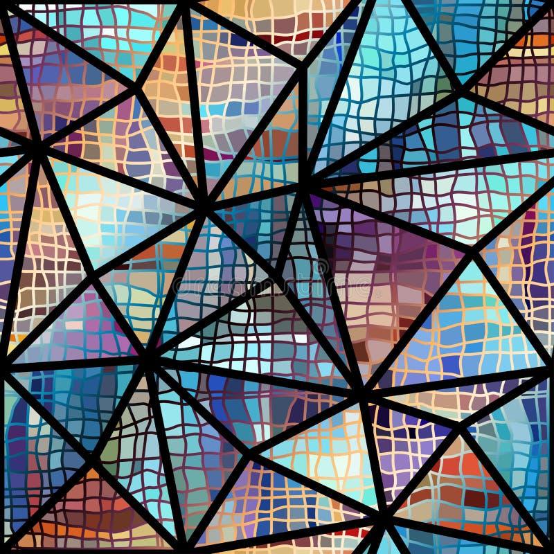 Modèle sans couture abstrait de triangle illustration stock
