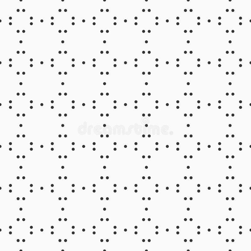 Modèle sans couture abstrait des cercles pointillés illustration de vecteur