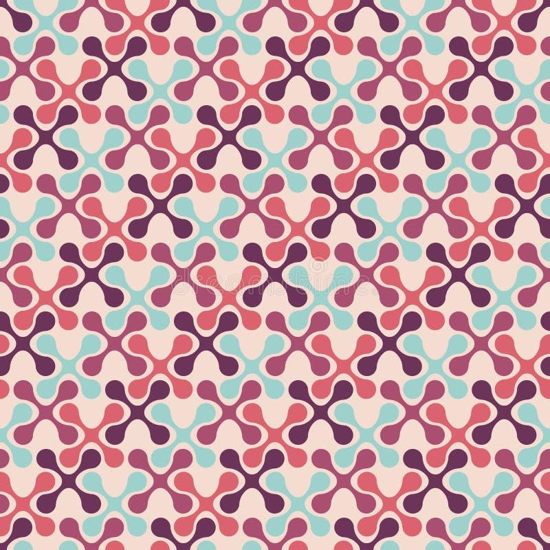 Modèle sans couture abstrait des formes géométriques symétriques illustration libre de droits