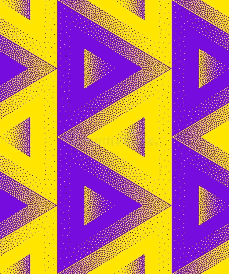 Modèle sans couture abstrait des points L'illusion des figures volumétriques illustration stock