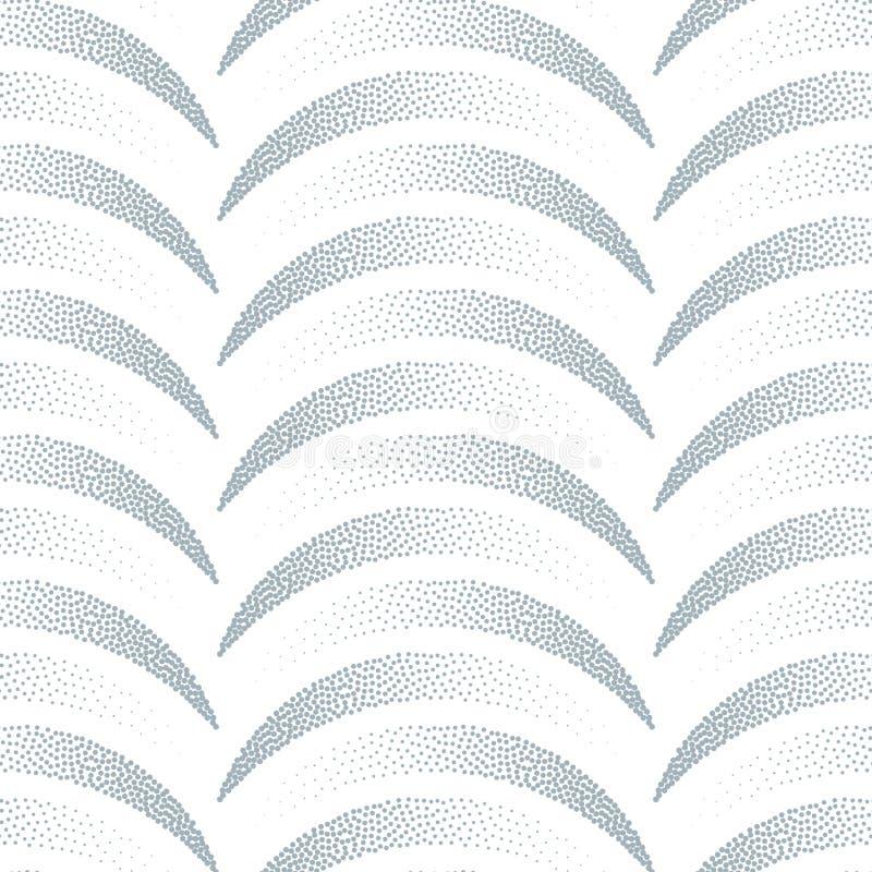 Modèle sans couture abstrait des points L'illusion des figures volumétriques illustration de vecteur