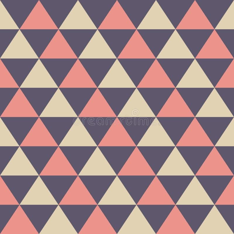 Modèle sans couture abstrait des triangles de couleur Texture élégante élégante moderne illustration de vecteur