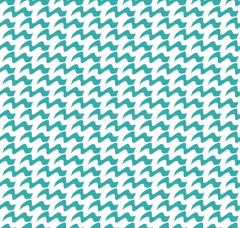 Modèle sans couture abstrait des vagues Texture élégante géométrique Fond de répétition moderne Le bleu ondule la texture sans co illustration libre de droits
