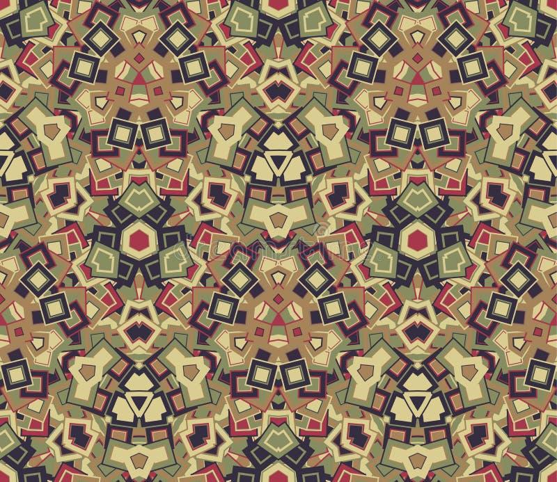 Modèle sans couture abstrait, fond Mosaïque graphique illustration stock