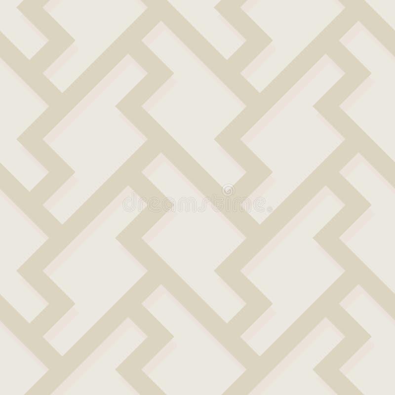 Modèle sans couture abstrait géométrique de couleur Dos parquetant classique illustration libre de droits
