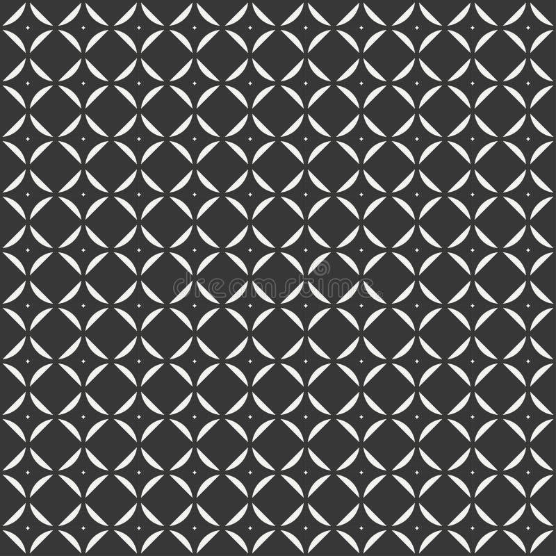 Modèle sans couture abstrait géométrique de cube avec des losanges, place, cube illustration libre de droits