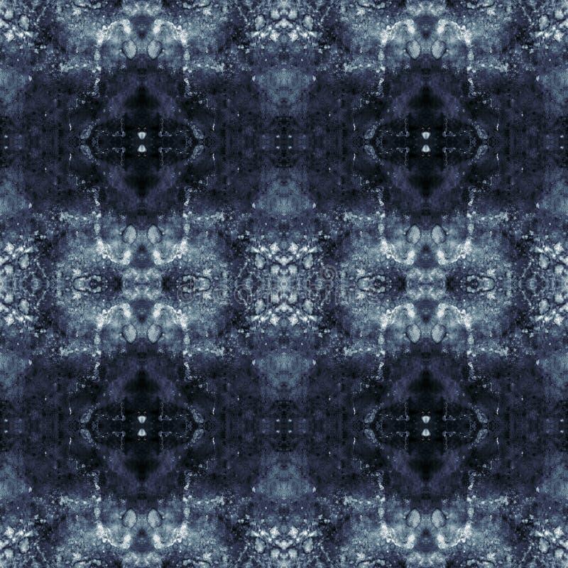 Modèle sans couture abstrait grunge pourpre, bleu et noir illustration de vecteur