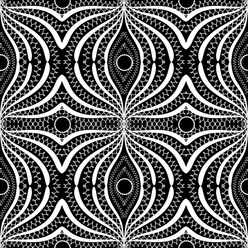 Modèle sans couture abstrait noir et blanc d'élégance de dentelle Beautif illustration stock
