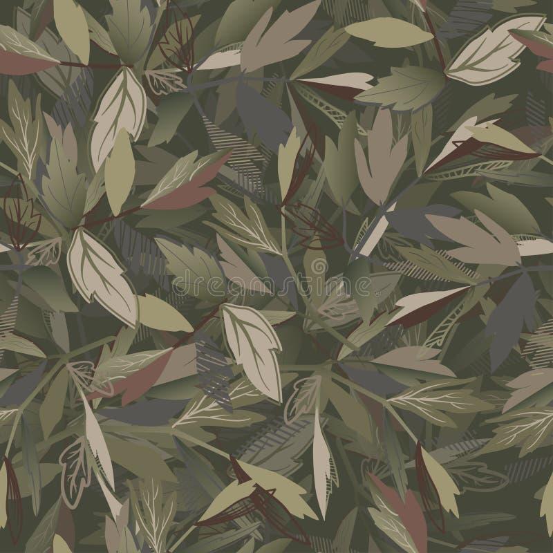 Modèle sans couture abstrait pour des filles, garçons, vêtements Fond créatif avec des feuilles Papier peint drôle pour le textil illustration stock