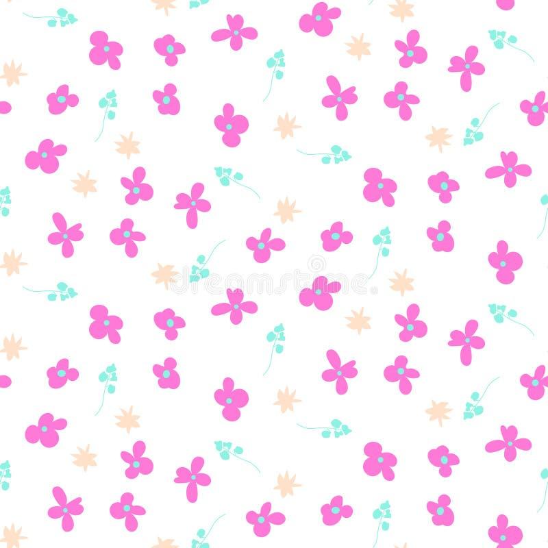 Modèle sans couture abstrait rose de Millefleur petit illustration stock