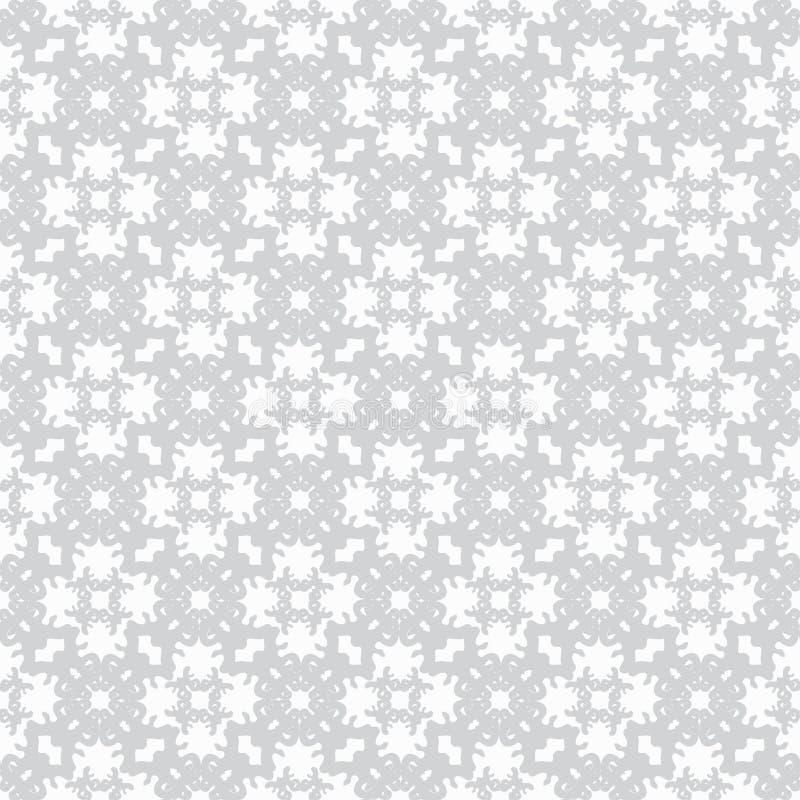 Modèle sans couture abstrait simple doux de vecteur sur le fond blanc illustration stock