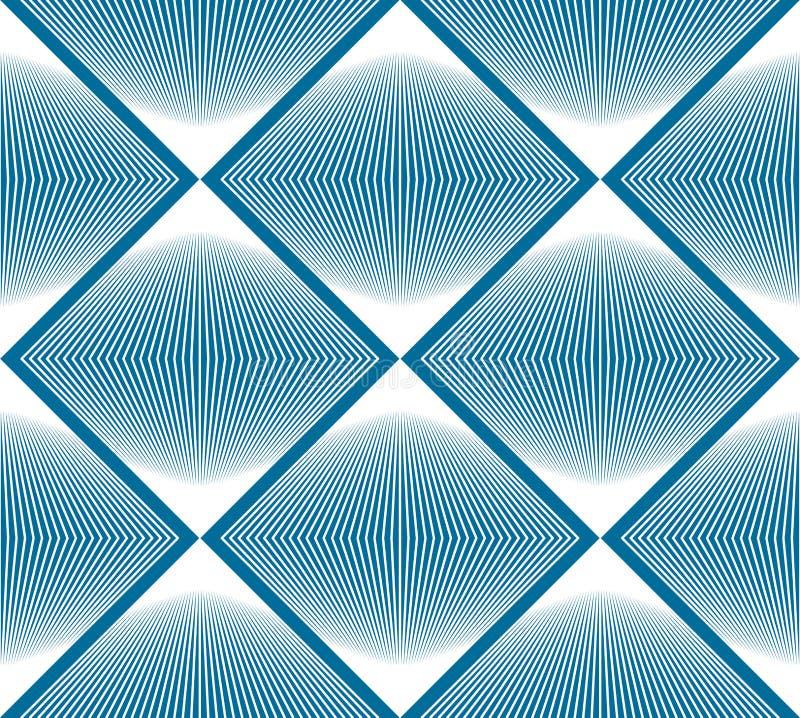 Modèle sans couture abstrait trompeur coloré avec le figur géométrique illustration de vecteur