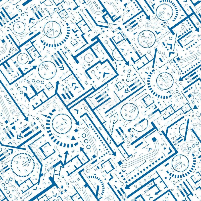Modèle sans couture architectural illustration stock
