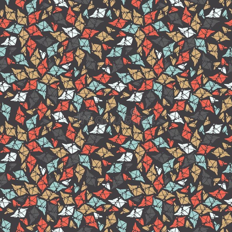 Modèle sans couture automnal avec les feuilles abstraites illustration stock