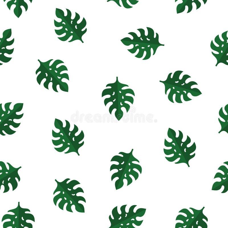 Modèle sans couture avec de belles feuilles de Monstera Jungle tropicale Flora Perfectionnez pour la copie, papier d'emballage, t illustration de vecteur