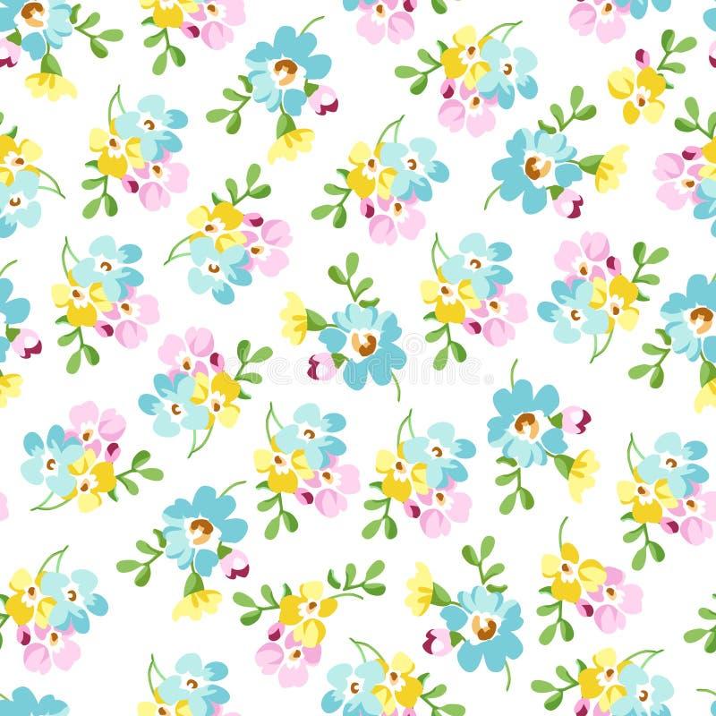 Modèle sans couture avec de petites fleurs bleues, myosotis illustration stock